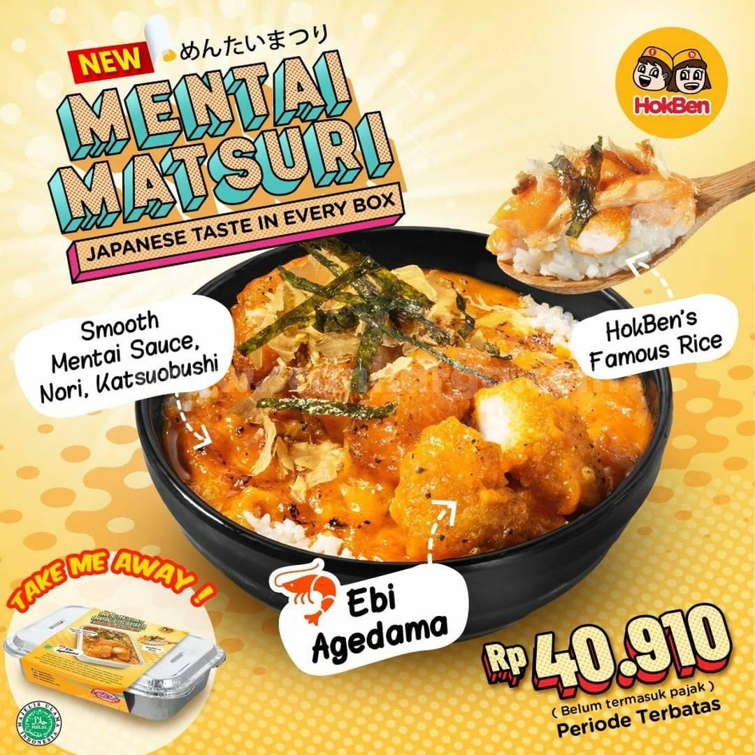 Baru! HOKBEN Mentai Matsuri Only Rp 40.910
