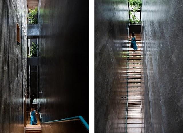 Ngôi nhà có cầu thang khiến chủ nhà 'như đi lên trời'