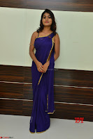 Actress Priya in Blue Saree and Sleevelss Choli at Javed Habib Salon launch ~  Exclusive Galleries 012.jpg