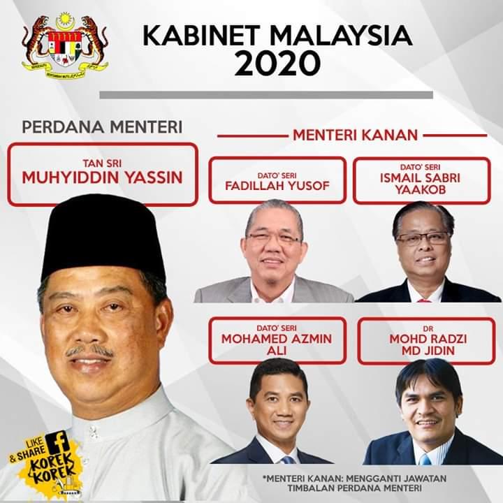 Na Im Nikmat Senarai Menteri Kabinet Terbaru Kerajaan Pn