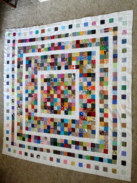 Fading Charms Quilt designed by Deanna of Wedding Dress Blue