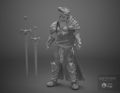 Kadis - Ancient Legendary Armor, Weapons and Poses for Genesis 3 Female