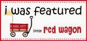 My card was featured over at Lil red wagon