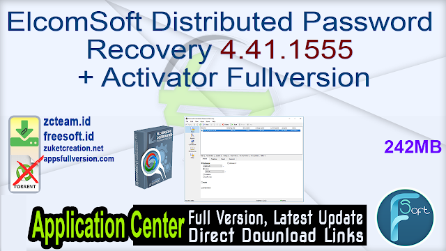 ElcomSoft Distributed Password Recovery 4.41.1555 + Activator Fullversion
