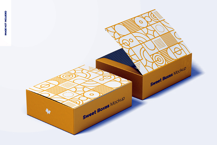 Sweet Box Set Mockup Free Download