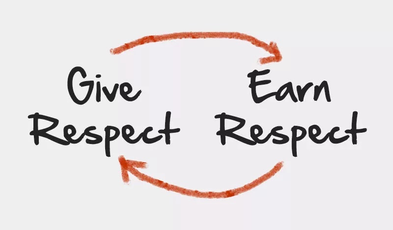 Give Respect to Earn Respect