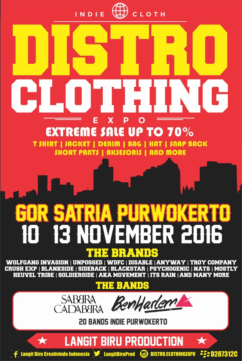 Distro Clothing Expo Purwokerto 2016