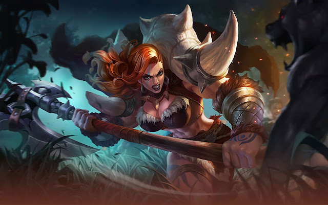 Hilda Power of Megalith Heroes Fighter Tank of Skins Mobile Legends Wallpaper HD for PC