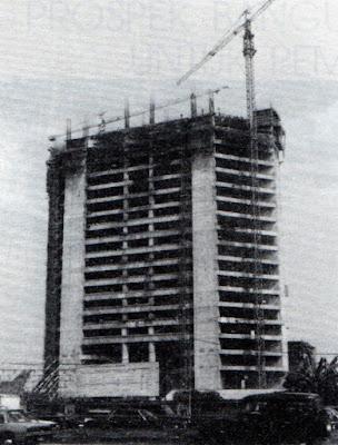 Grha BNI saat dibangun, Jakarta 1980an
