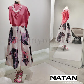 Queen Maxima wore Natan floral skirt