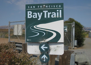Trailside sign for the San Francisco Bay Trail, Sunnyvale, California