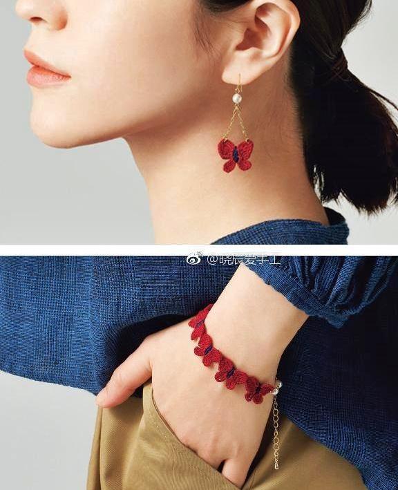 biżuteria szydełkiem ze wzorem