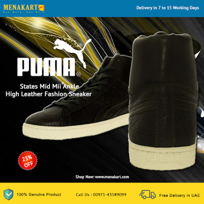 Puma States Mid Mii Ankle High Leather Fashion Sneaker