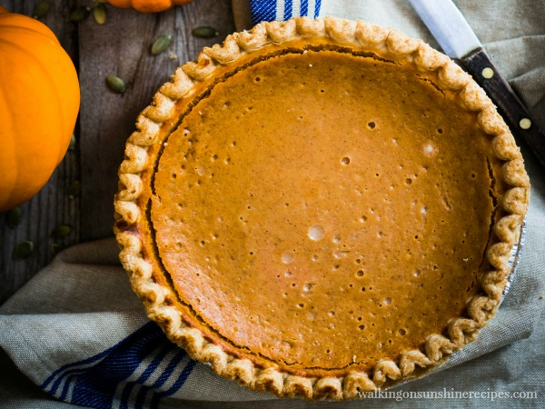 The best pumpkin pie recipe with my secret ingredient to having your pumpkin pie get rave reviews this Thanksgiving from Walking on Sunshine Recipes.