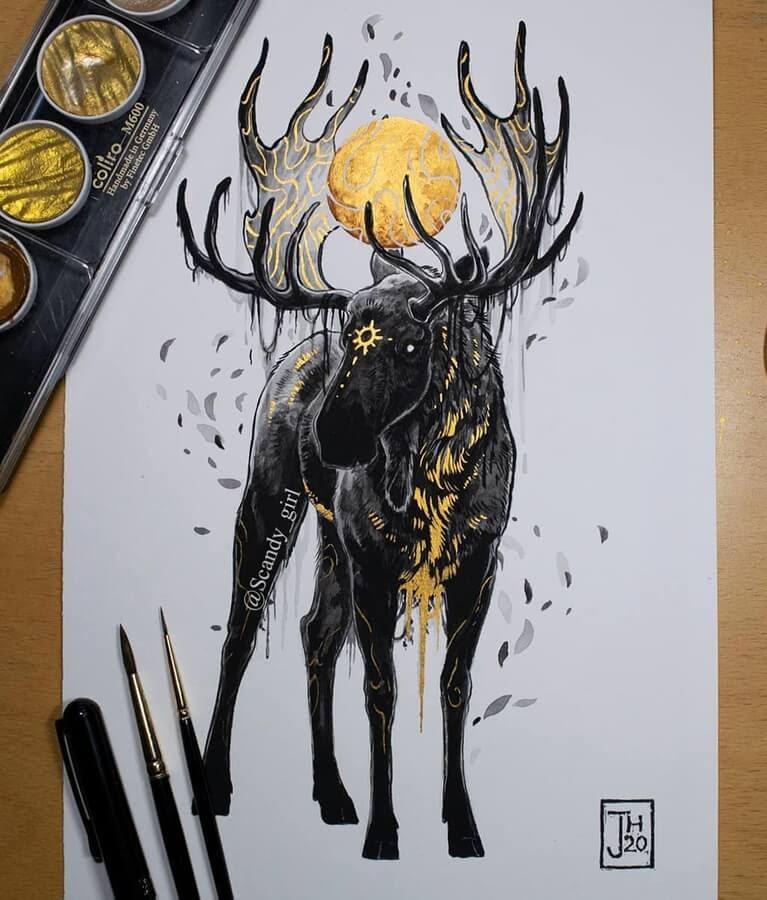 06-Moose-Finland-Mythology-Jonna-Hyttinen-www-designstack-co