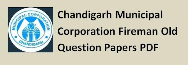 Chandigarh Municipal Corporation Fireman Old Question Papers PDF