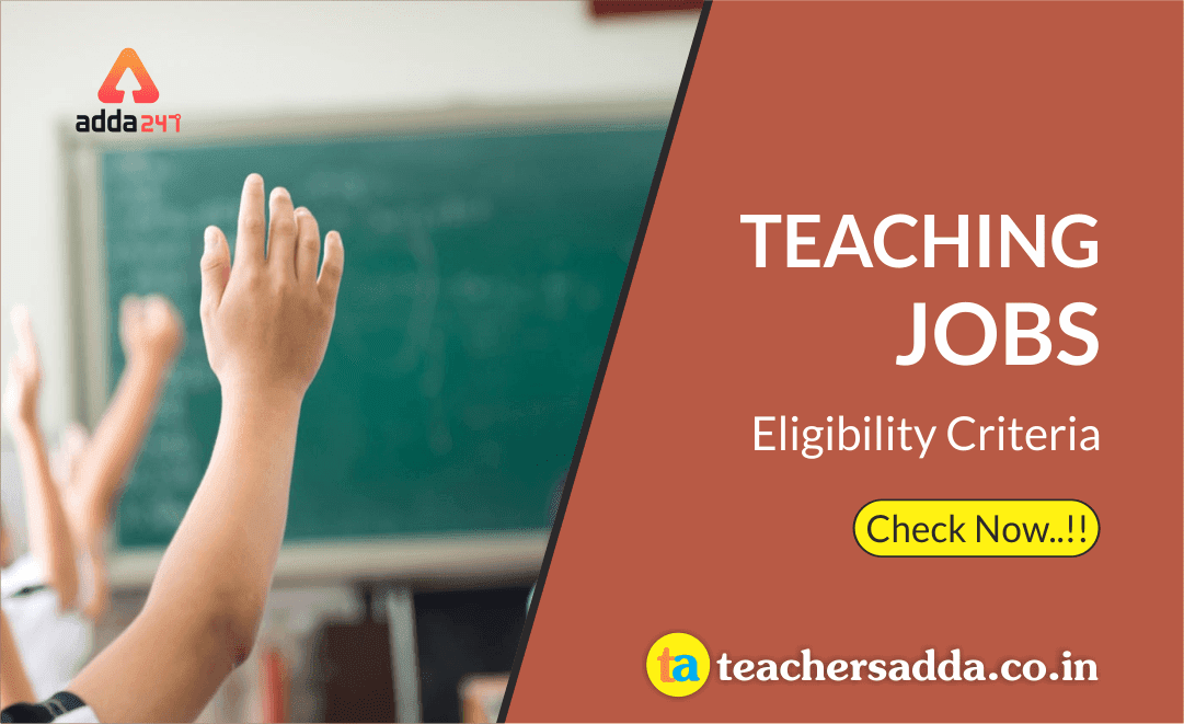 Teaching Jobs Eligibilit