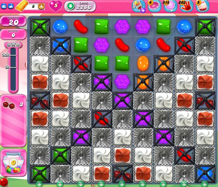 Candy Crush Saga level 2286