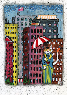 Mr. Calico in the Rainy City