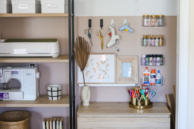How to Turn a Cluttered Closet into Organized Craft Storage