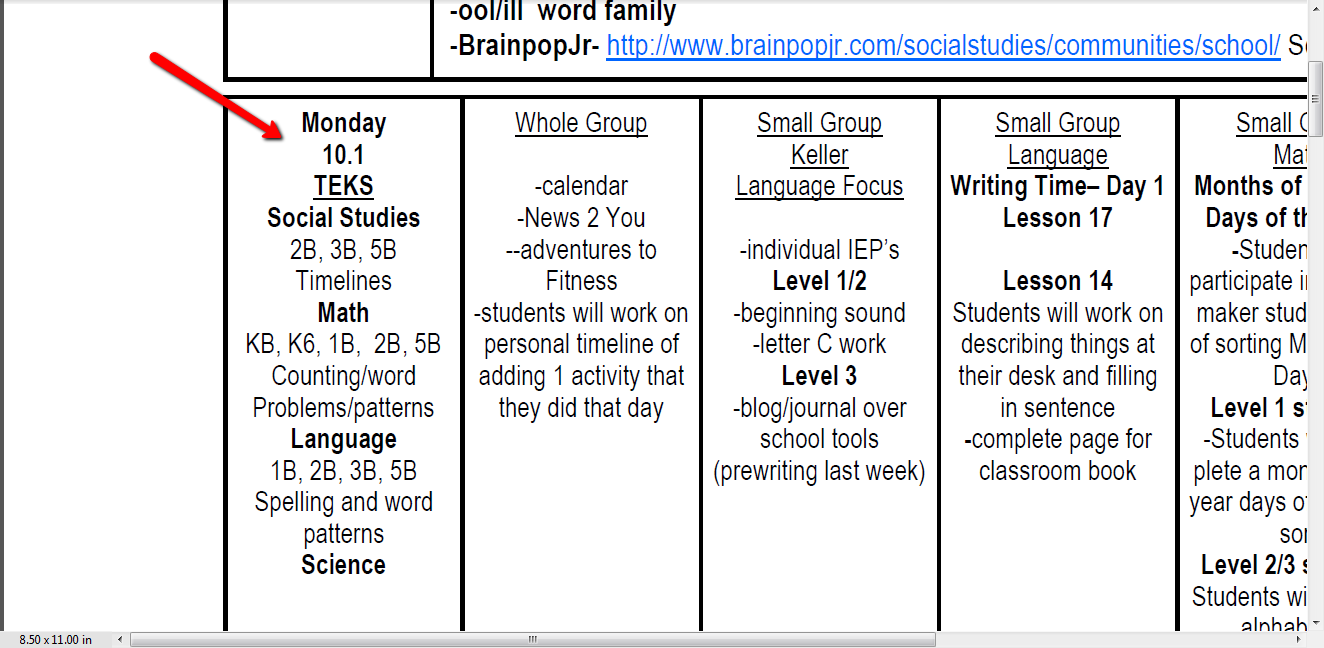 Ideas from a busy bee mail call monday lesson plan writing for Morning meeting lesson plan template