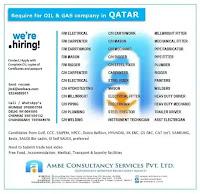 Hiring For Oil & Gas Company - Qatar