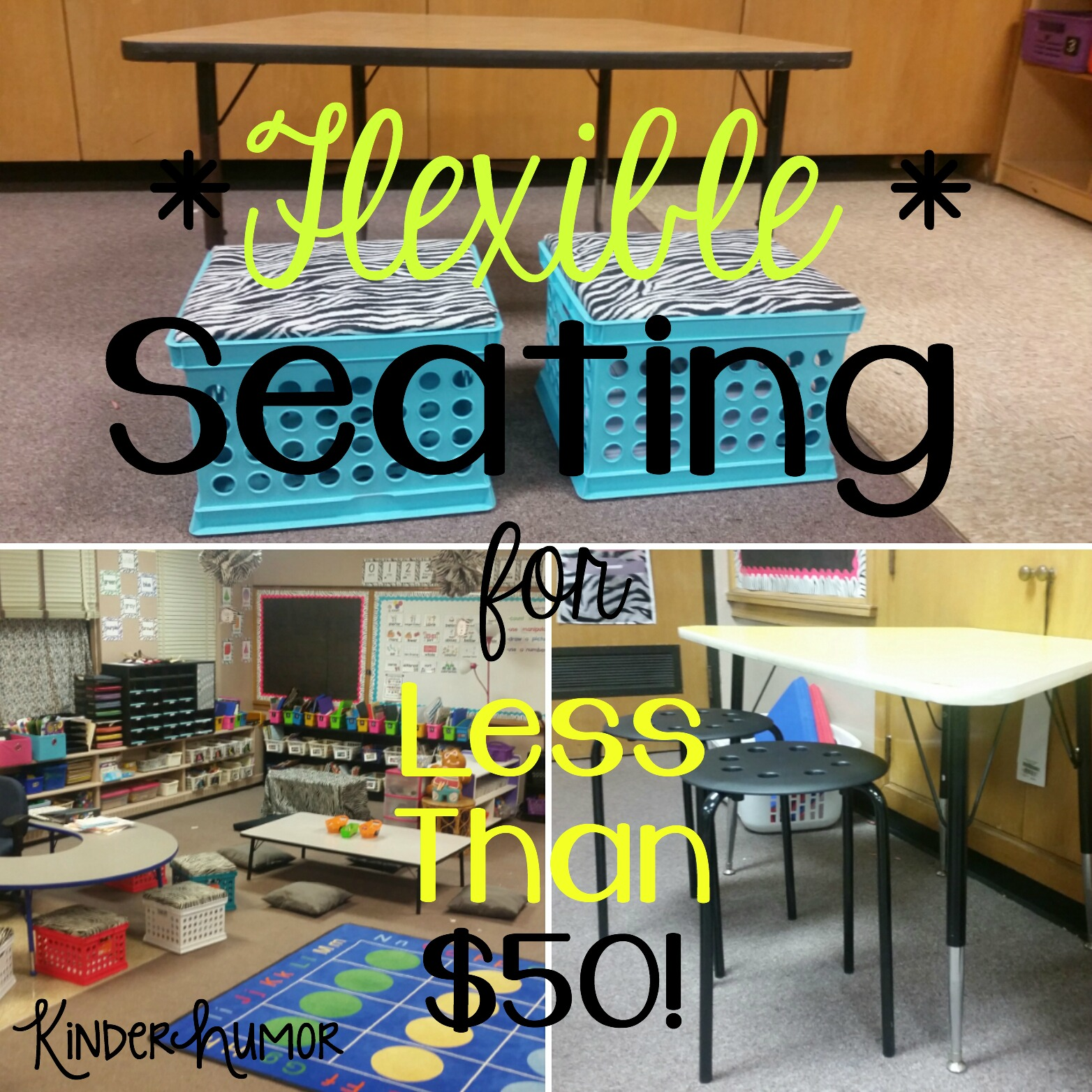Kinder Humor How I Implemented Flexible Seating In My