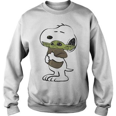 Snoopy Hugging Baby Yoda Hoodie, Snoopy Hugging Baby Yoda Sweatshirt, Snoopy Hugging Baby Yoda Shirts,