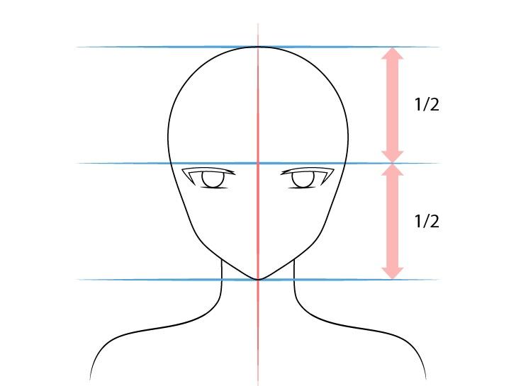 Gadis anime elf mata bersudut dalam menggambar