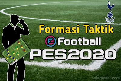 Formasi Terbaik Tottenham Hotspur PES 2020