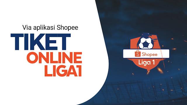 Beli tiket online liga 1 di aplikasi shopee
