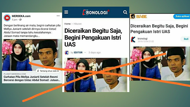 Gambar Istrinya Dicomot Media Online untuk Pemberitaan Perceraian UAS, Gus Ishom Beri Peringatan