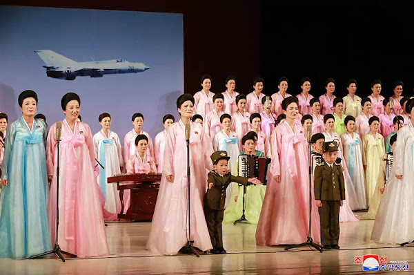(7) Kim Jong Un at art performance given by KPA officers' wives, June 2, 2019
