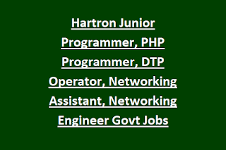 Hartron Junior Programmer .NET, PHP Programmer, DTP Operator, Networking Assistant, Networking Engineer Govt Jobs Recruitment 2020