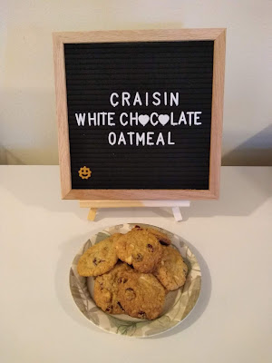 Gluten-Free Craisin White Chocolate Chip Oatmeal Cookies