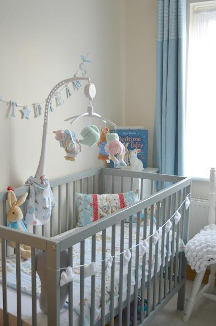 Baby cot in nursery