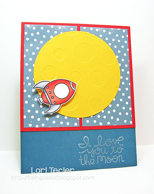 Love You to the Moon card-designed by Lori Tecler/Inking Aloud-stamps from Paper Smooches