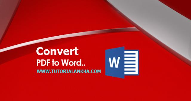 Cara mudah Merubah File Pdf Menjadi Dokumen Microsoft Word (Convert)