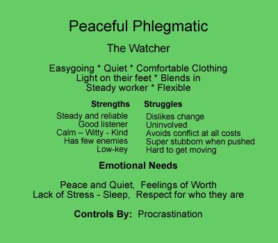 Phlegmatic people