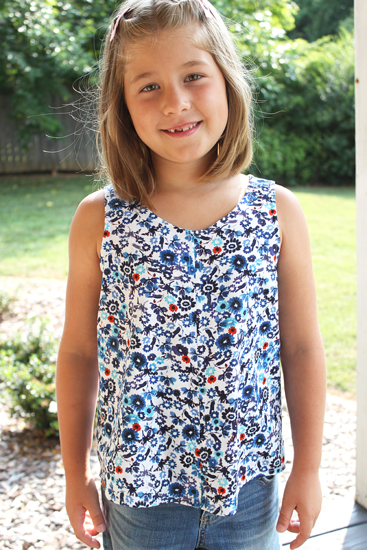 MNMini Eucalypt Tank/Dress Pattern // Sewing For Girls