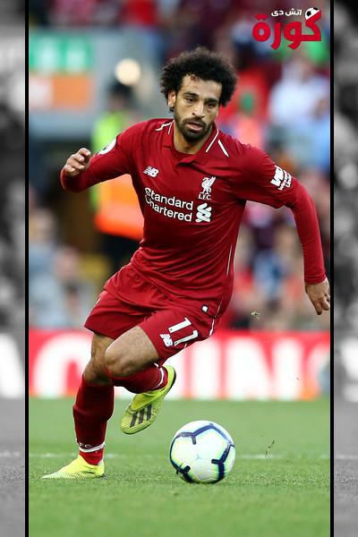محمد صلاح اللاعب المصري المحترف في صفوف ليفربول الانجليزي