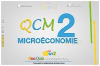 Microéconomie : QCM 2