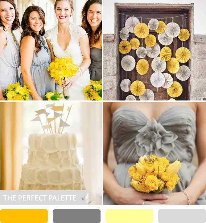September Weddings: {party Palette}: Shades Of Yellow + Gray