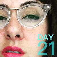 Glasses Makeup Look :: 31 Days of Liquid Eyeliner (Warby Parker Zelda)