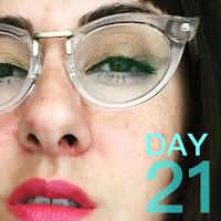 Glasses Makeup Look :: 31 Days of Liquid Eyeliner (Warby Parker Zelda)