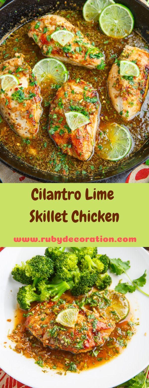Cilantro Lime Skillet Chicken