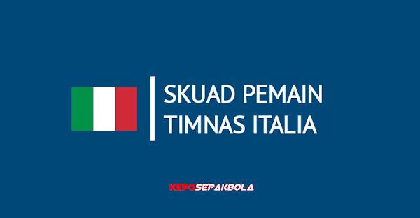 daftar susunan nama pemain timnas italia terbaru