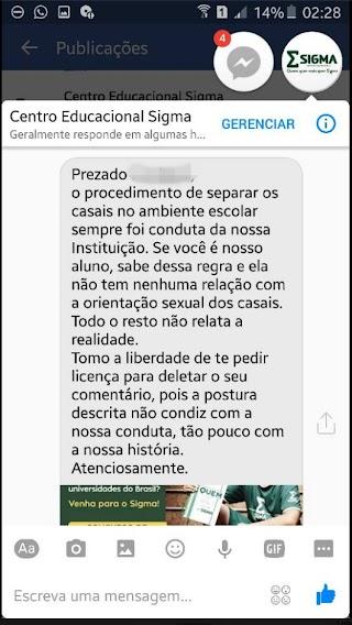 Reação homofóbica de colégio a beijo entre dois meninos gera criticas de alunos