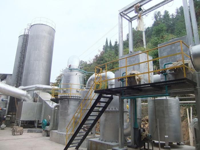 Planta de pirólisis y gasificación de biomasa