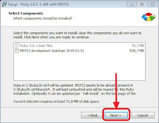 Cara download dan Install Ruby - Paket installan ruby